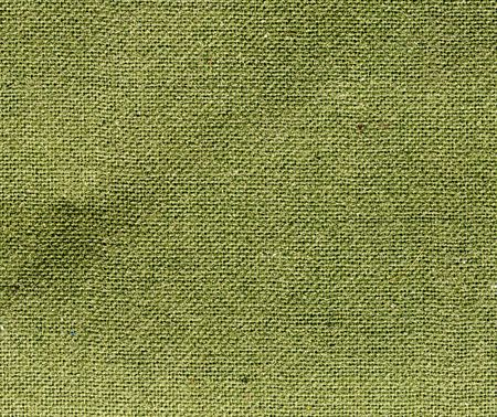 green burlap fabric texture