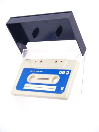 analogue: old audio tape and plastic box