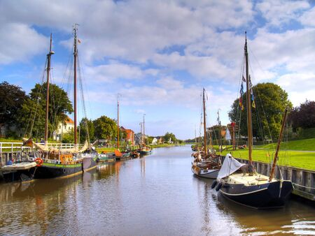 historic ships in the old harbor of carolinensiel, germany Stock Photo - 5639146