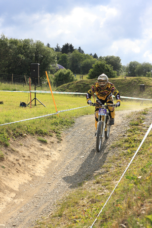mountainbiking: WILLINGEN, GER - JUNE 17, unknown competitor #183, racing at downhill qualification, not qualifying for final race, Willingen, Germany, June 17, 2011