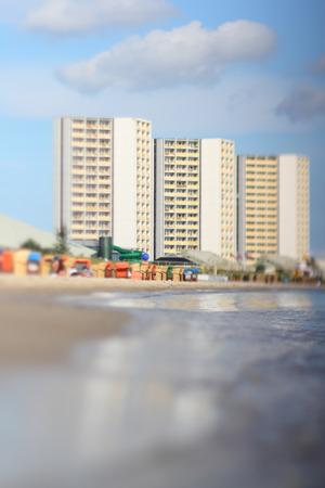 Fehmarn South beach, tilt effect Stock Photo