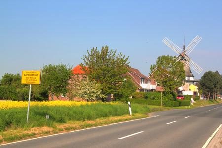 carolinensiel with windmill Stock Photo