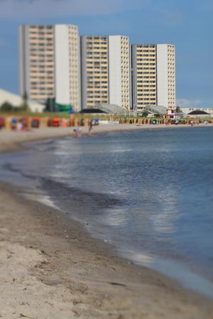 Fehmarn South beach, tilt effect Editorial