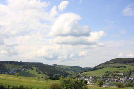 viewsover willingen Stock Photo