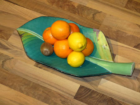 Fruit plate: Fruit Plate  Stock Photo