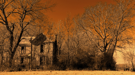 steadfast: Abandoned farm house with gate