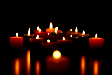 candles burning for love photo