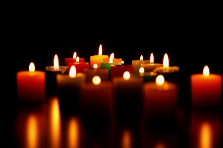 candles burning for love