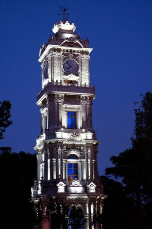 Clock tower in dolmabahce palace in istanbul 2 photo