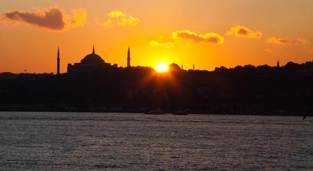 Sunset at istanbul  photo