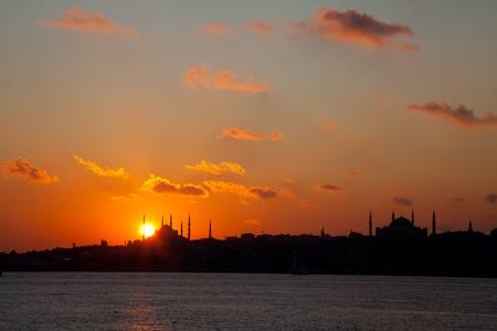 Sunset at istanbul  免版税图像