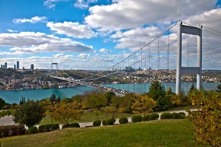 Bosphorus with Traffic on the Bridge (HDR photograph)