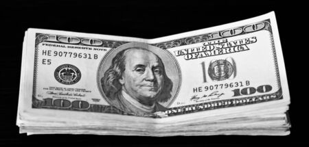 bankroll: dollar bankroll Stock Photo