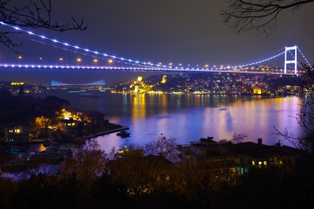 Fatih Sultan Mehmet Bridge at istanbul Turkey 6 photo