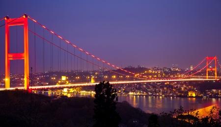 Fatih Sultan Mehmet Bridge at istanbul Turkey 5 免版税图像