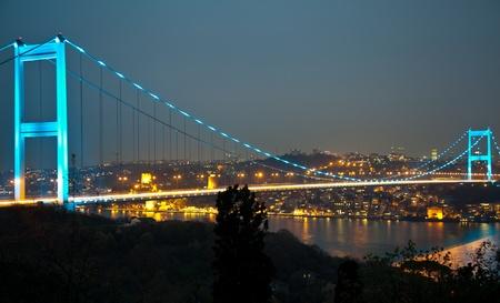 fatih: Fatih Sultan Mehmet Bridge at istanbul Turkey 4