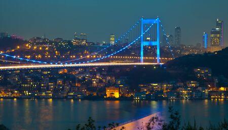 mehmet:  Fatih Sultan Mehmet Bridge at istanbul Turkey 3
