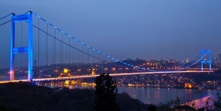 Fatih Sultan Mehmet Bridge at istanbul Turkey 2 免版税图像