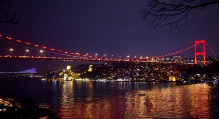 Fatih Sultan Mehmet Bridge at istanbul Turkey