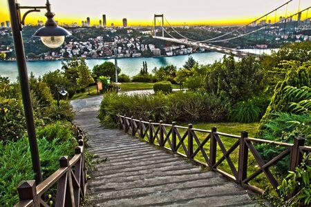 HDR Bosphorus with Fatih Sultan Mehmet Bridge