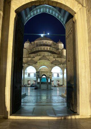 Blue Mosque entrance door Istanbul Turkey