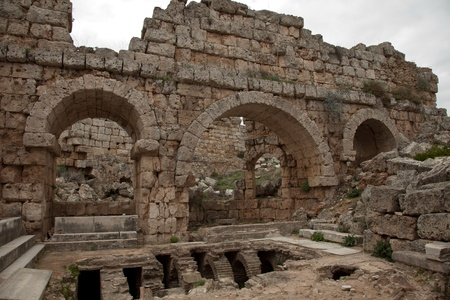 dating back to 1200 BC, the ancient city of Perge photo