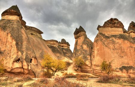 seljuk: Famous cave city  Cappadocia at Turkey, HDR photography