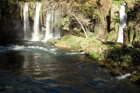 Duden waterfall and cascade at Antalya Turkey photo