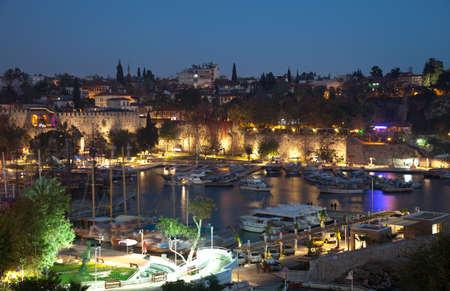 The old marina of  Antalya in  Turkey