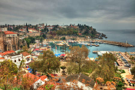 The old marina of  Antalya in  Turkey, HDR photography