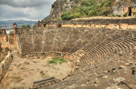 roman amphitheatre: Anfiteatro romano en la antigua ciudad de Myra Turqu�a