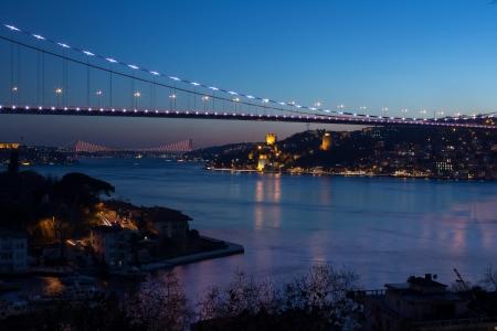 mehmet: Fatih Sultan Mehmet Bridge at istanbul Turkey