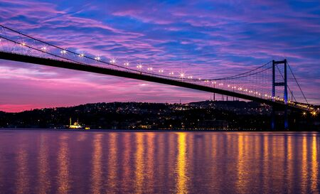 bosporus: sunrise at the bosporus bridge  Stock Photo
