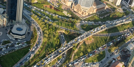 aerial view at Istanbul city Turkey 免版税图像
