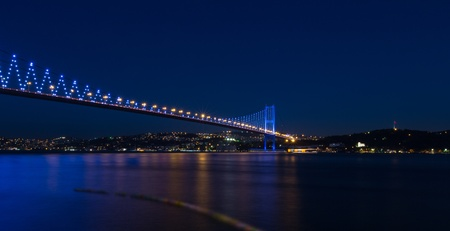 Bosporus Bridge at istanbul Turkey photo