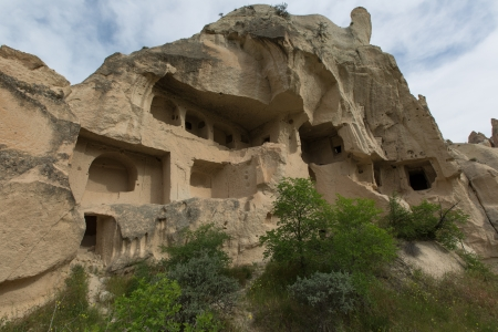 cave house: famous cave house city at Cappadocia Turkey