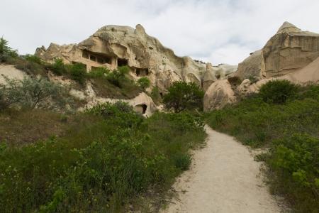 cave house: famous cave house city at Cappadocia Turkey