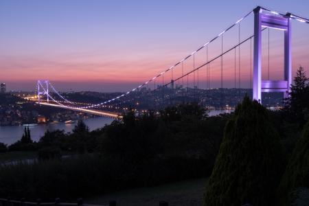 blue time Fatih Sultan Mehmet Bridge at Istanbul Turkey 6