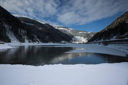 long lake: very famous place Long Lake at Trabzon Turkey Stock Photo