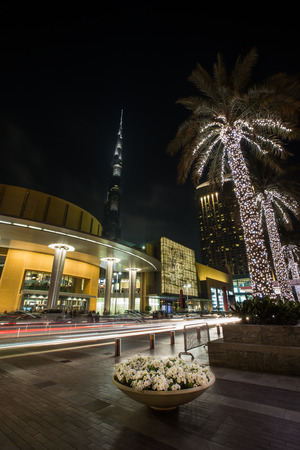mall of the emirates: Dubai Mall entrance at United Arab Emirates, super wide angle shot