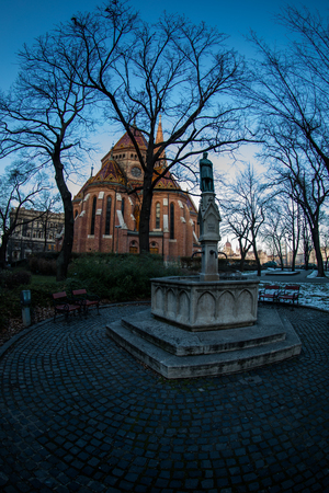 A view of Buda Reformed Church, Budapest Hungary