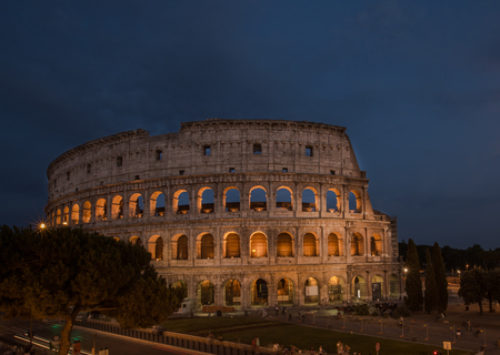 A night view of Colloseum rome italy