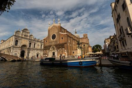 A view of San Giovanni e Paolo and Scuola Grande di San Marco at sunny summer day Zdjęcie Seryjne