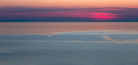 A view of beautiful sea scape at sunset time