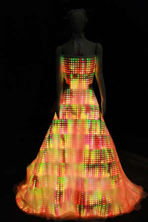 Dress made out of LED lights