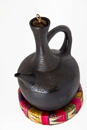 ethiopian: Traditional Ethiopian coffee pot made out of clay