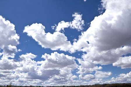regina: Majestic clouds on a beautiful spring day in Regina, Saskatchewan, the Land of the living skies