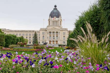 The Saskatchewan Legislative Building is located in Regina, Saskatchewan 写真素材