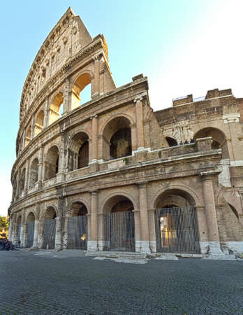 A partial look at the Colosseum in Rome, Italy Banco de Imagens - 11824359