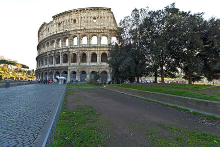 A partial look at the Colosseum in Rome, Italy Editorial